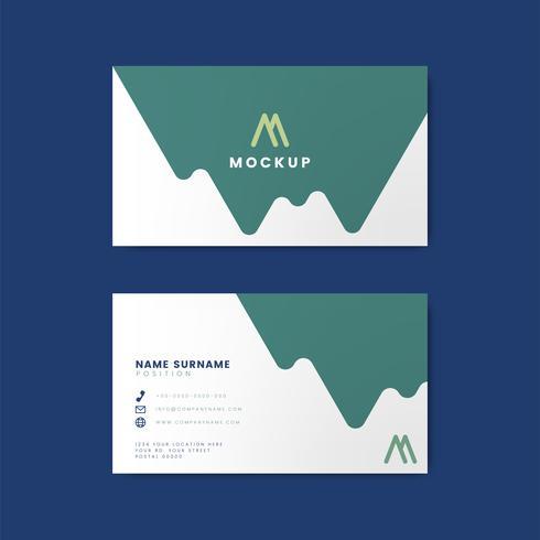 Modern geometrisch visitekaartjeontwerp