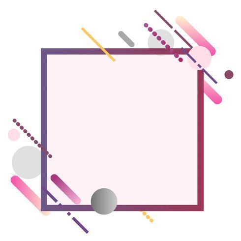 Bannière carrée moderne en illustration de cadre coloré
