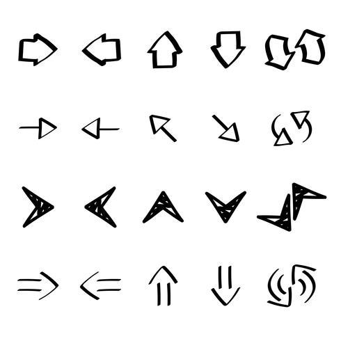 Samling av pilklotter illustration