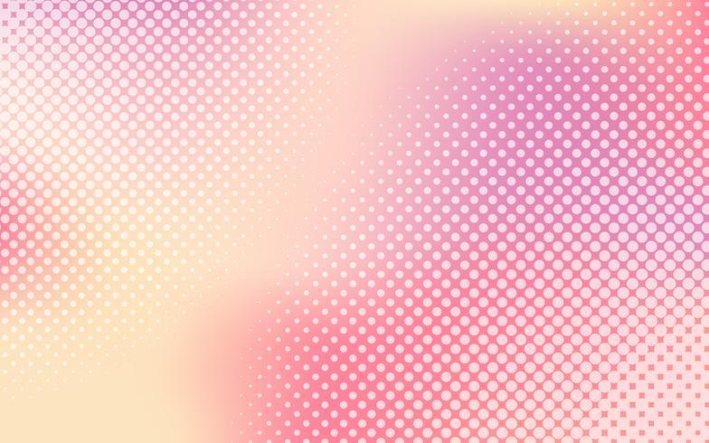 Veelkleurige gradiënt halftone achtergrondvector
