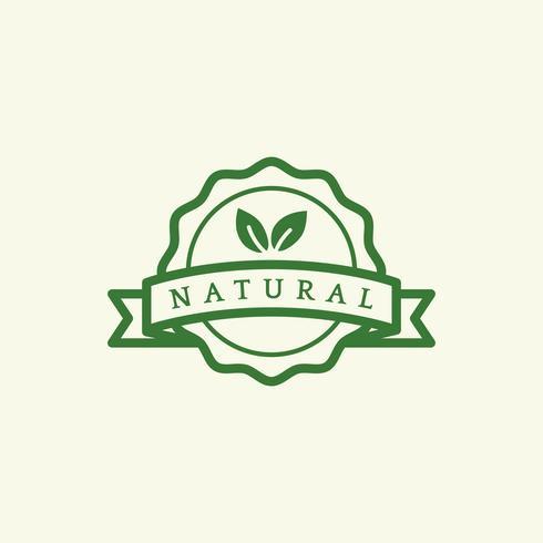 Naturprodukt Emblem Abzeichen Illustration