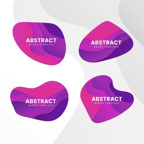 Abstracte badge ontwerp vector set
