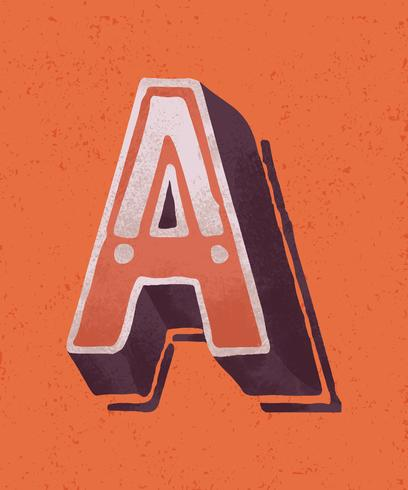 Huvudstämpel En vintage typografi stil