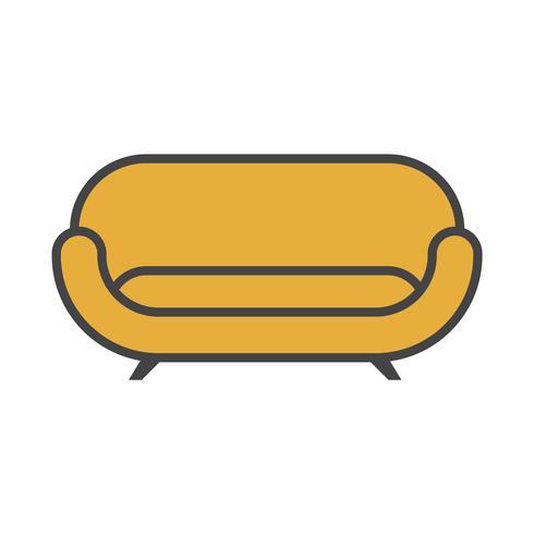 Illustration av en gul soffa