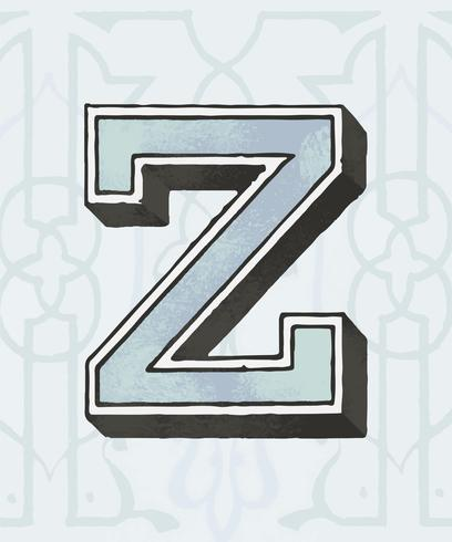 Style de typographie vintage majuscule Z