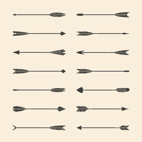 Set van grijze stijlvolle pijl vectoren