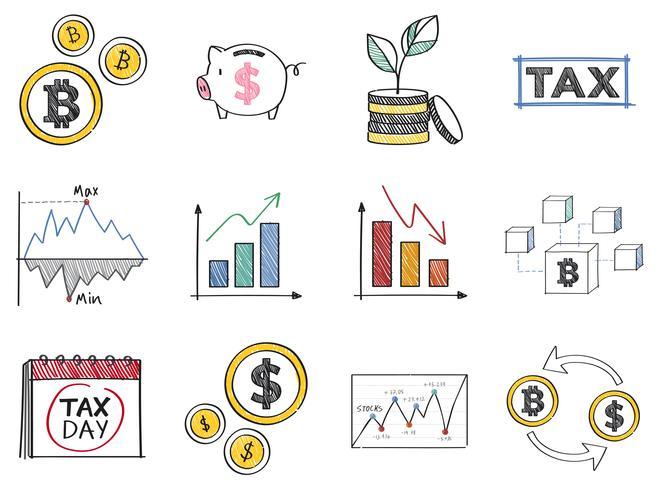 Finansiell och ekonomisk koncept illustration