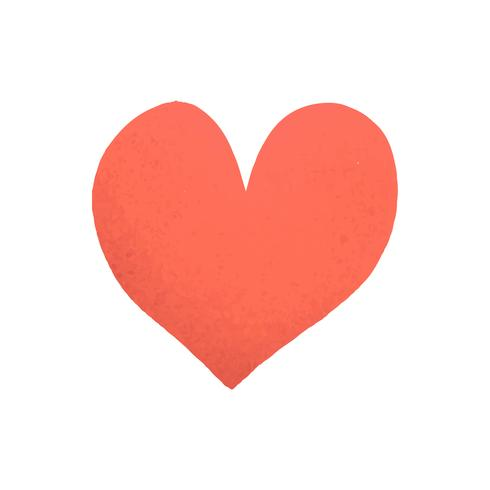Hartvormig zoals pictogramvector
