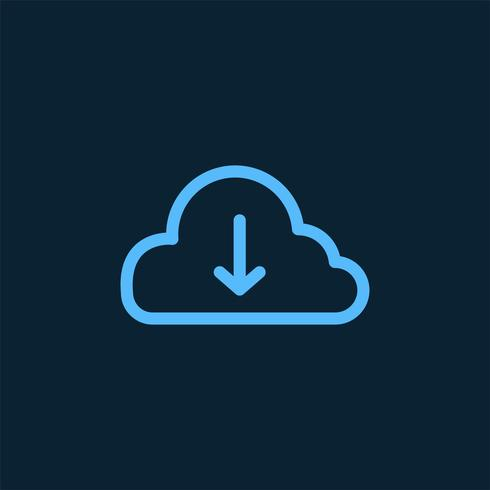 Download from cloud storage symbol vector