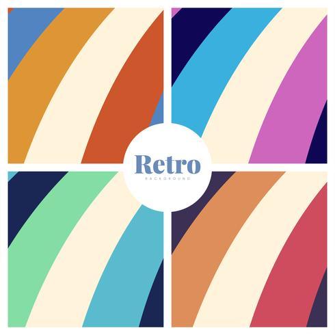 Conjunto de fondos de impresión retro coloridos