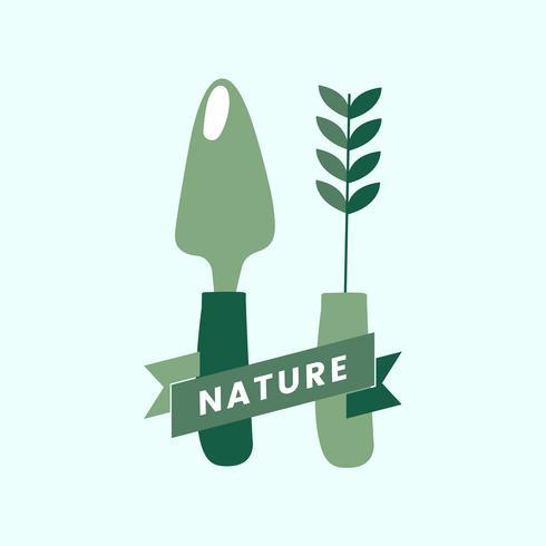 Logo van de natuur biologische landbouw