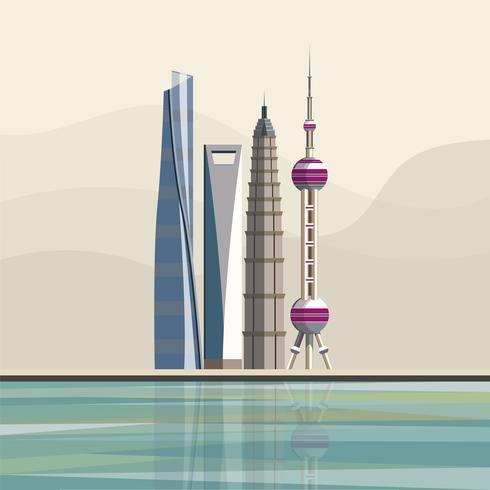 Illustration de gratte-ciel de Shanghai