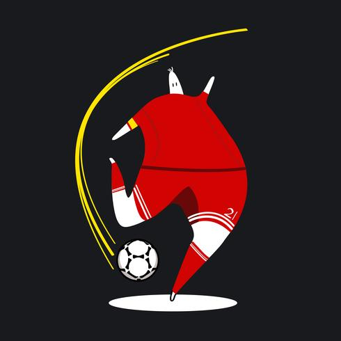 Voetbal speler cartoon