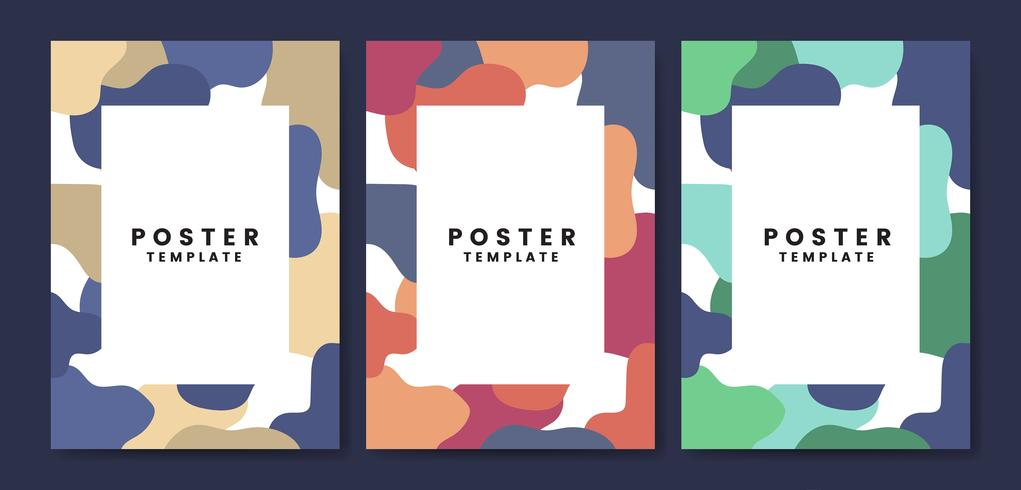 Cool and colorful poster template
