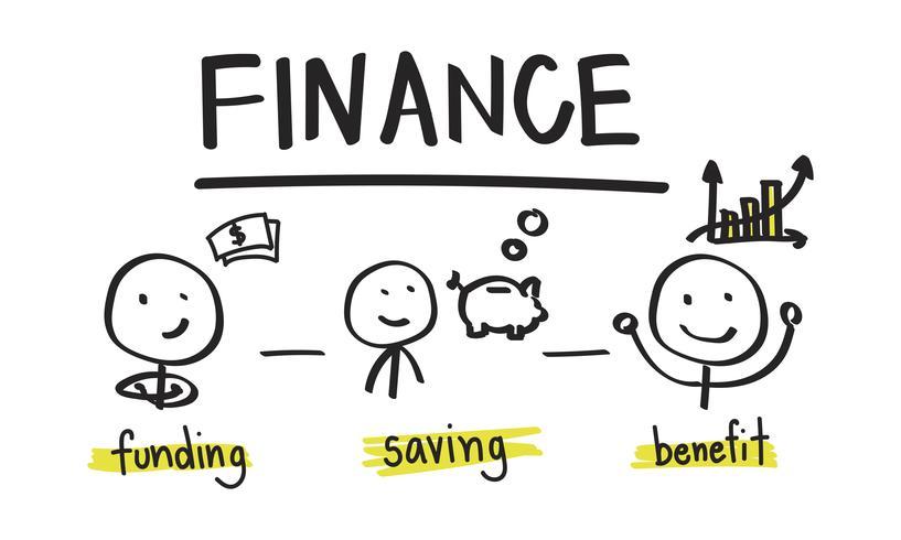 Illustration av finansiellt begrepp