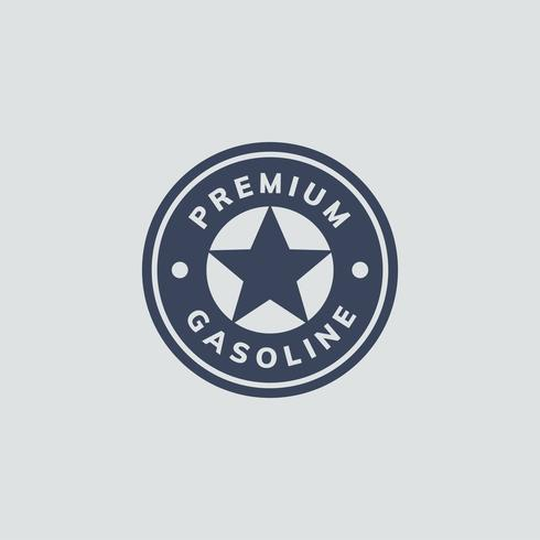 Premium gasoline banner icon illustration