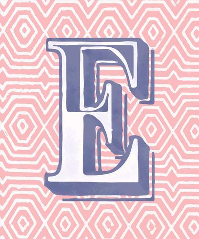 Vintage-Typografieart des Großbuchstaben E