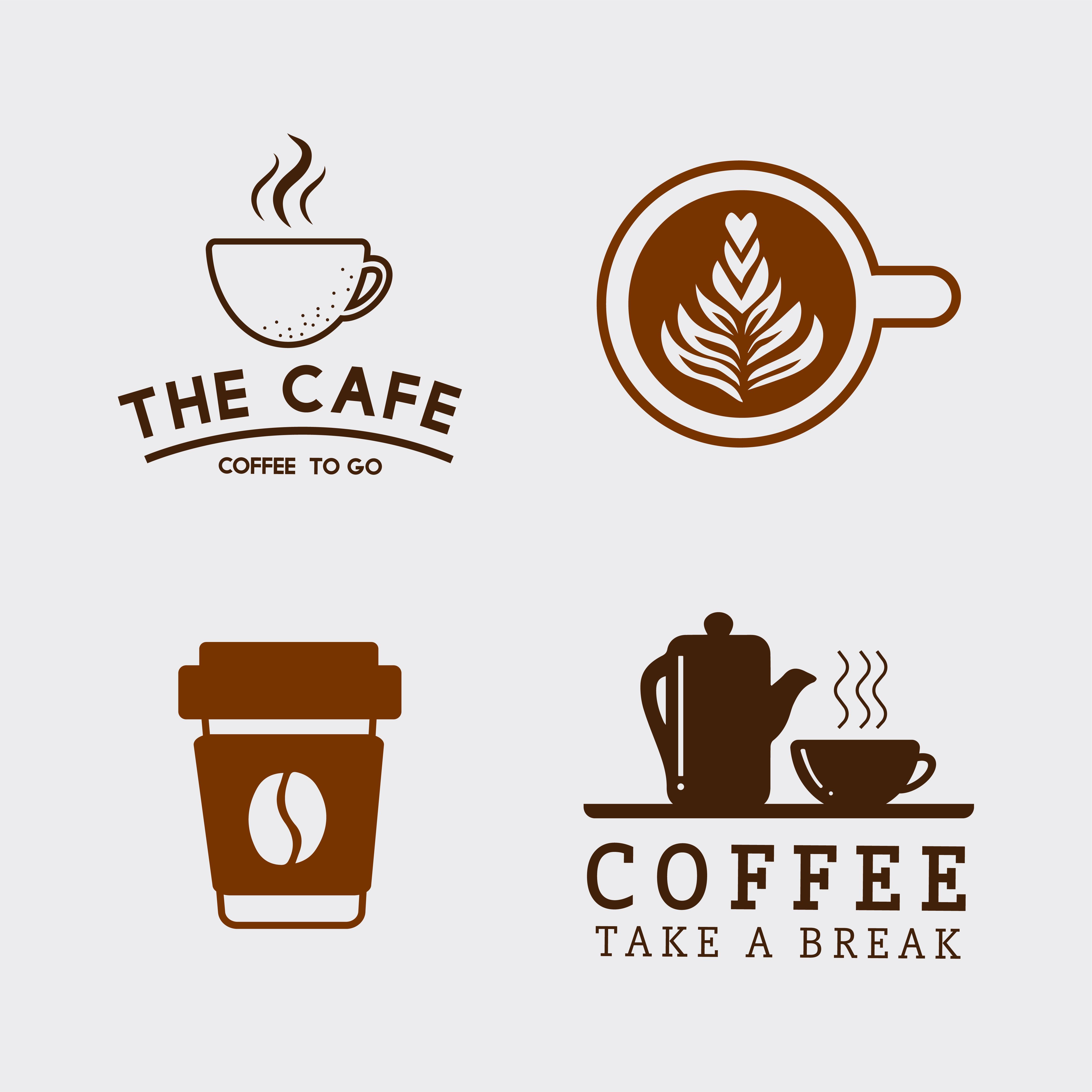 Coffee Heart Free Vector Art