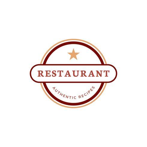 Uma estrela restaurante icon ilustração