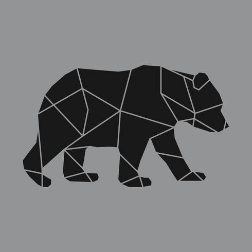 Linjär illustration av en björn