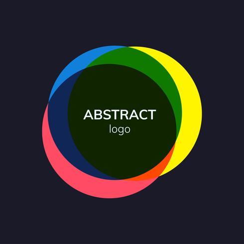 Création de logo badge abstrait coloré
