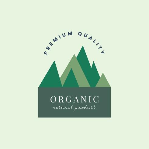 Logo de producto natural orgánico.