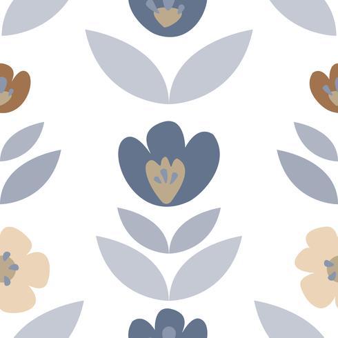Illustration de roses et de plantes dessinées à la main