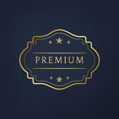 Premium insamlingsemblem design vektor