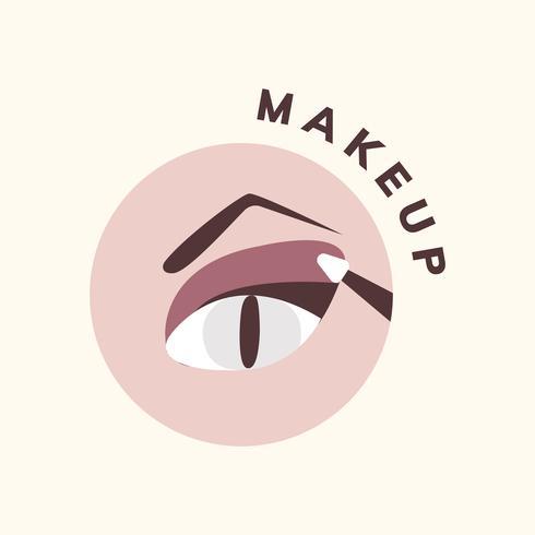 Cosmetica en make-up pictogram vector