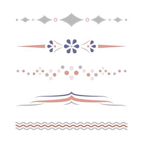 Vecteur de collection design diviseurs pastel