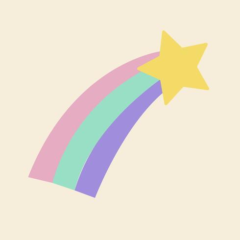 Färgglatt skjutstjärna ikon vektor