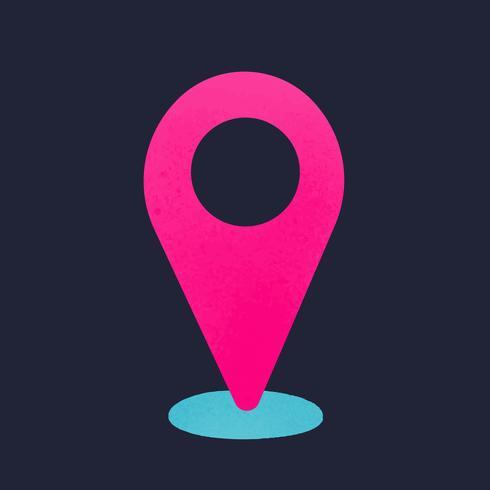 Check in social media icon vector