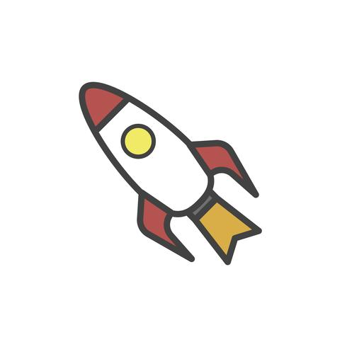 Illustration of rocket ship vector