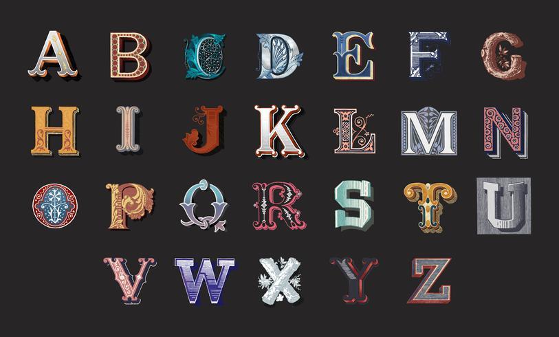Alfabetet uppsättning av huvudstadsbokstäver