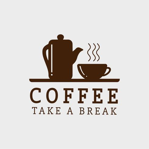 Tomar un café de descanso vector