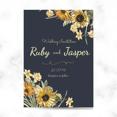 Floral themed invitation designs