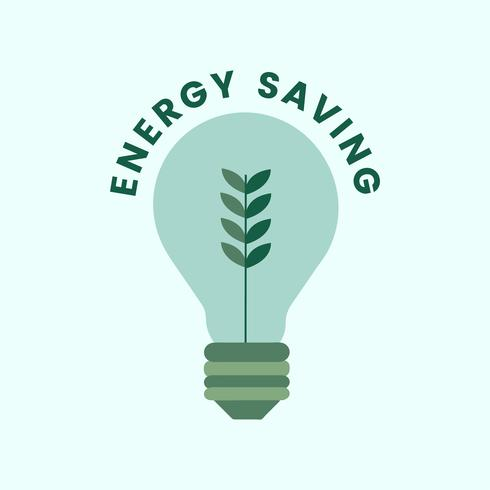 Electricity and energy saving icon