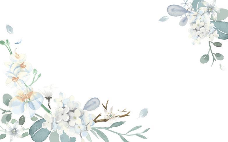 Carte d'invitation avec un thème bleu clair