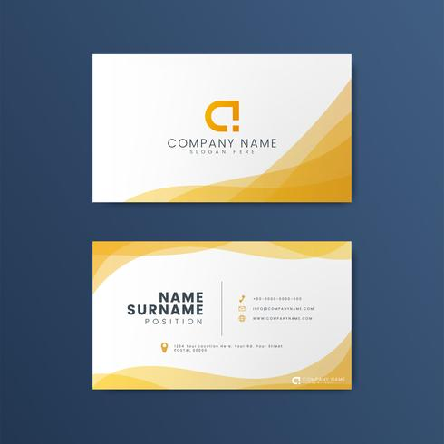 Modernt geometriskt visitkortdesign