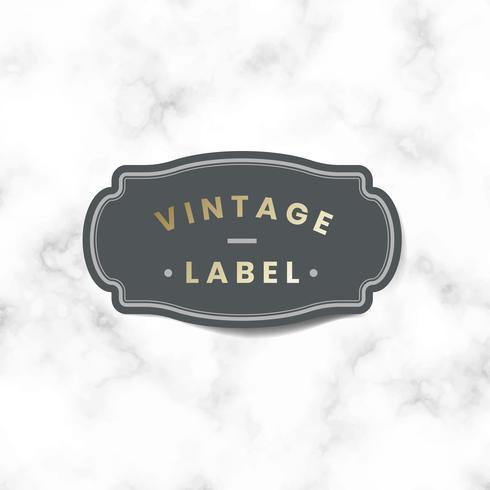 Vintage etikett klistermärke dekorerad med rosor vektor