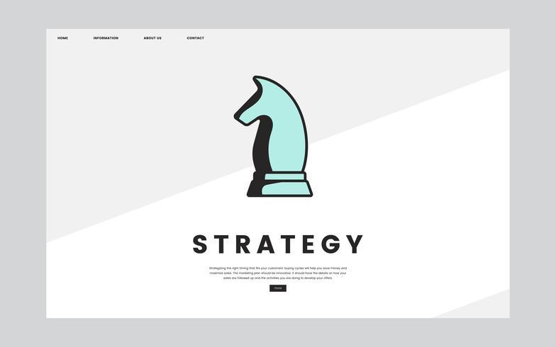 Affärsstrategi informativ webbplats grafisk
