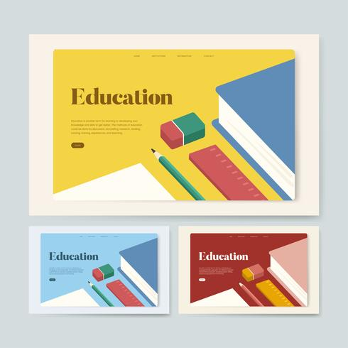 Education and learning informational website graphic