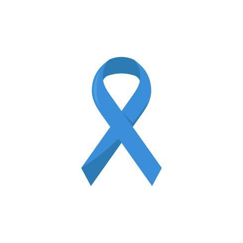 Illustratie van een blauw lint