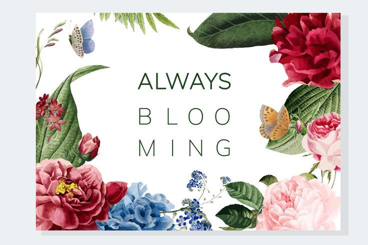 Immer blühende Blumenfeldillustration