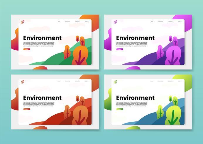 Website-Grafik zur Umgebung und Natur