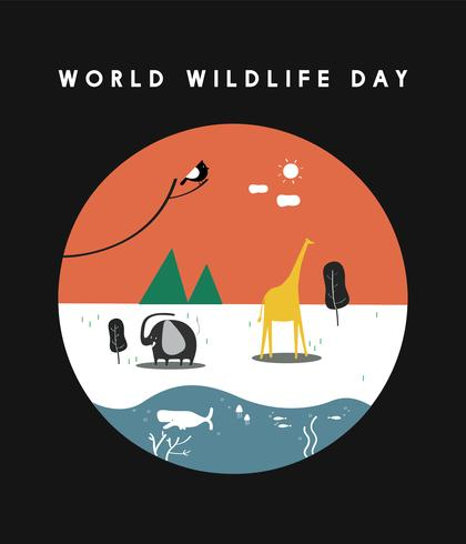 World Wildlife Day koncept illustration