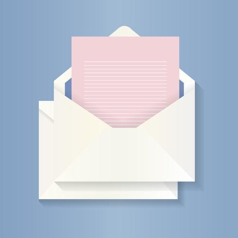 Lege brief en envelopillustratie