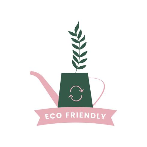 Eco friendly watering system icon