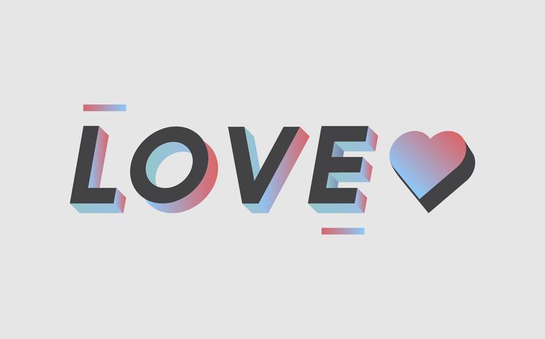 Het woord liefde vector