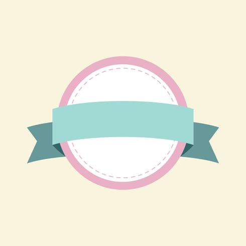 Pastel frame badge design vector